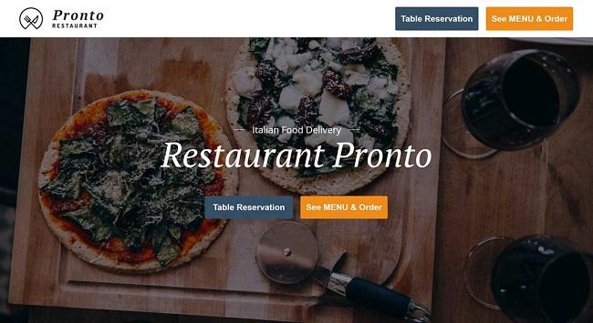 Tema de restaurante de WordPress con pedidos en línea