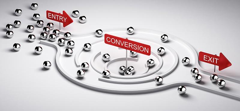 Comprensión del embudo de conversión en Google Analytics