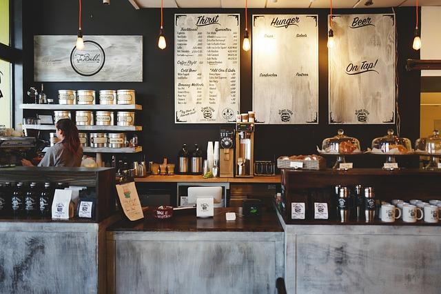 cafetería negocio local